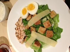 Chicken caesar salad. one of my fav!! @ pancious.
