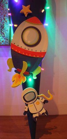 Schultüte space mit Licht ( blinkend oder konst... von Kindertraumland auf DaWanda.com