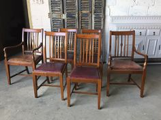 Six antique dining chairs by VRevival on Etsy https://www.etsy.com/uk/listing/478846089/six-antique-dining-chairs