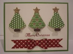 The Village Stamper: Ornament Punch Christmas Trees