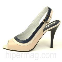 Нежни дамски сандали на висок ток