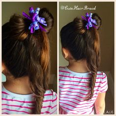 Cute ponytail with a bow