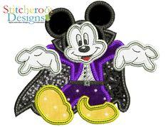 Mickey Vampire Applique by Stitcheroo Designs