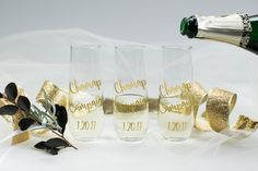 Personalized champagne glass/custom champagne glass/custom wine glass/personalized champagne glass/bride champagne glass/bachelorette glass by CatePaperCo on Etsy https://www.etsy.com/listing/505474225/personalized-champagne-glasscustom