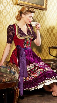 Dirndl Marie with embroidery inserts