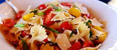 Bowtie Skillet Pasta with Tomatoes and Basil   Land O'Lakes