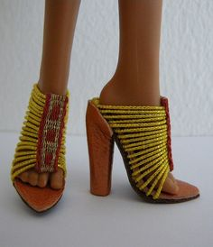 Sandals for a Monster High doll by Tarja_, via Flickr