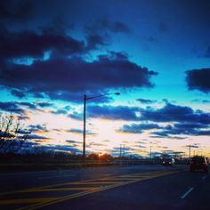 The sky after work #sunset #clouds #sky