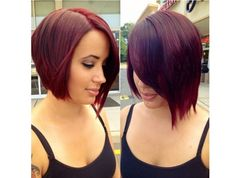119 Beautiful Asymmetrical Bob Hairstyles That Are Trending Currently Medium Bob Hairstyles, Hairstyles Haircuts, Trendy Haircuts, Bob Haircut 2018, Short Hair Cuts, Short Hair Styles, Red Bob Hair, Asymmetrical Bob Haircuts, Asymmetric Bob