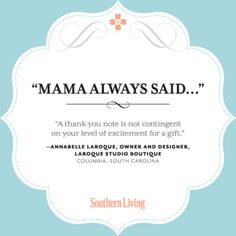 mama said...Thank You Notes