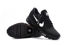 Nike Air Max 2017 Women Men Black Shoes have a high quaity with memorable meaning.Nike Air Max 2017 awesome appearance well tells the spirit of sports and Isaac's love for sports. New Mens Nike Shoes, Black Nike Shoes, Nike Shoes Cheap, Nike Free Shoes, Black Running Shoes, Running Shoes For Men, Black Nikes, Cheap Nike, Shoes Men