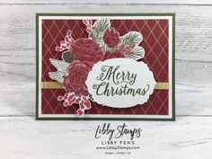 Stampin' Up! Christmastime is here Christmas Medley, Christmas Rose, Christmas Hanukkah, Christmas Time Is Here, Christmas 2019, Christmas Ideas, Fall Cards, Xmas Cards, Holiday Cards