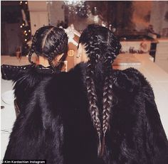 Kim Kardashian and daughter North wear matching braid hairstyles