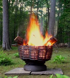 Recycled Cable Wire Firebowls