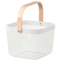 IKEA - RISATORP, Wire basket, white, This basket makes it easy to access and get an overview of your Pantry Baskets, Wire Baskets, Storage Baskets, Storage Shelves, Kitchen Organization Pantry, Wall Organization, Toilet Roll Basket, Ikea Basket, Ikea Shopping