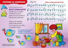pieseň Kids Songs, In Kindergarten, Diy And Crafts, Preschool, Jar, Education, Reading, Sheet Music, Carnavals