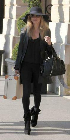 Kate Moss : la capeline d'hiver ! Moi j'adore !!!!