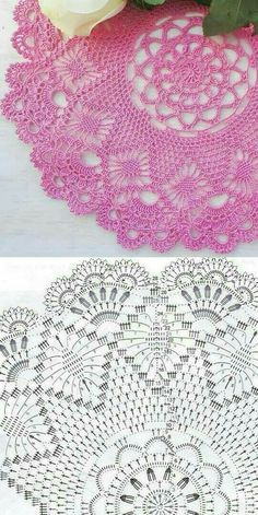 Free Crochet Doily Patterns, Crochet Doily Diagram, Filet Crochet Charts, Crochet Beanie Pattern, Granny Square Crochet Pattern, Crochet Mandala, Crochet Motif, Crochet Doilies, Knit Slippers Free Pattern