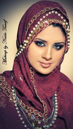 beautiful hijab..but the hair D: