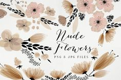 Nude Flowers by Webvilla on Creative Market
