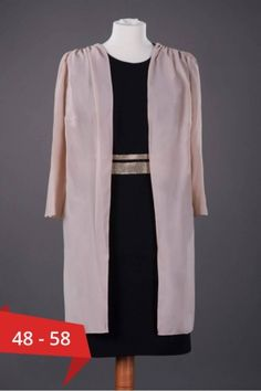 Blazer lung elegant din voal de culoare crem - o piesa vestimentara foarte utila si practica mai ales atunci cand doresti sa ascunzi imperfectiunile sau pur si simplu doresti sa alcatuiesti o tinuta eleganta. Disponibil pe marimi mari de la 48 pana la 58. Mai, Lunges, Duster Coat, Kimono Top, Blazer, Jackets, Women, Fashion, Down Jackets