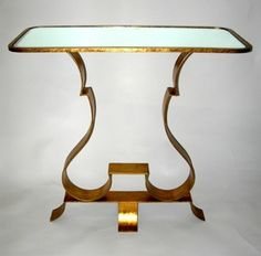 Crave Worthy: Worlds Away Bennito Side Table Art Deco table in response to Sarah's art moderne consoles Art Nouveau Furniture, Home Decor Furniture, Metal Furniture, Gossip Girl, Blair Waldorf Room, Side Tables Bedroom, Blue Bedroom, Architecture, Room Inspiration