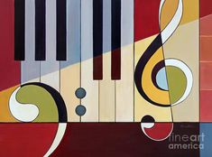 Piano Forte- Mezzo Forte Canvas Print / Canvas Art by Kristin Morris Guitar Painting, Music Painting, Music Artwork, Art Music, Piano Art, Music Drawings, Jazz Art, Canvas Art, Canvas Prints
