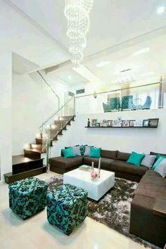 Ideas en sala en color turquesa