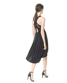 DRESS WITH STRAPS AT THE BACK - Dresses - Woman - New collection | ZARA Philippines
