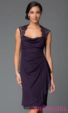 6346de9f90 Eggplant Knee Length Dresses Semi Formal Dresses For Wedding