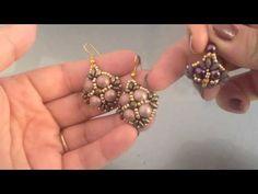Seed Bead Earrings, Beaded Earrings, Beaded Bracelets, Diy Jewelry, Beaded Jewelry, Jewelery, Earring Tutorial, Jewelry Making Tutorials, Swarovski Pearls