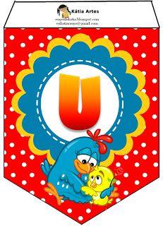 Vejam que lindo esse alfabeto de varal da galinha pintadinha   Quando vi, não resisti, tive que compartilhar com vocês   Essa arte nã...