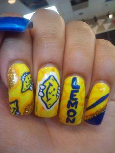 Lemonhead nails. Ferrara Pan, Fashion Inspiration, Childhood, Nail Art, Candy, Nails, Beauty, Ideas, Finger Nails