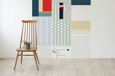 new Cut & Paste wallpaper collection by All the Fruits