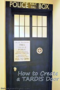 how to make a tardis door, doors, how to