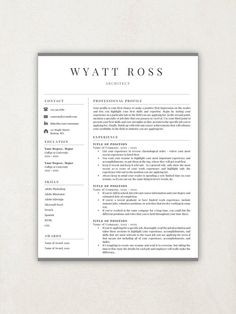 Awesome Business Resume Template Idea Business Resume