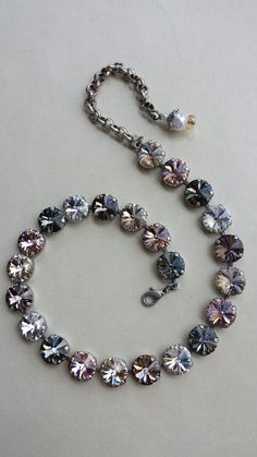 Swarovski Jewelry : Swarovski Crystal designer inspired trendy choker necklace multi colored HIGH sparkle not Sabika - Jewelry Magazine - Home of Jewelry, diamonds, Rings, Earrings, Necklaces and Luxury Trends Swarovski Crystal Necklace, Swarovski Jewelry, Crystal Jewelry, Beaded Jewelry, Swarovski Crystals, Cute Jewelry, Unique Jewelry, Jewelry Making, Bling