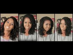 ▶ Bantu Knot Out On Two Strand Twist - ❤ Natural HairStyle ❤ - YouTube