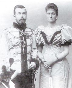 ♚ ♛♚ ♛♚ ♛   Nicolas Romanov, Tsar of Russia, and Alexandra (Alix of Hesse) his wife. Alexandra was the granddaughter of Queen Victoria