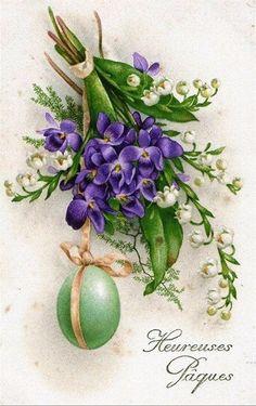 Old Easter Post Card — Easter Decoupage, Easter Art, Easter Crafts, Vintage Greeting Cards, Vintage Postcards, Easter Illustration, Diy Ostern, Easter Parade, Up Book