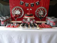 Ideas for Julian's 9th Birthday.  Race theme.. at a go-kart track?? Maybe.