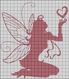 Free : Elfe au coeur FILET CROCHET