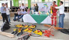 Gobernación dotó al cuerpo de Bomberos  de Mistrató con tres kits contra incendios