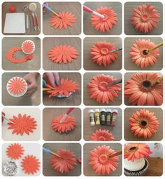 Gerbera Flower Turorial - Step by step - CakesDecor