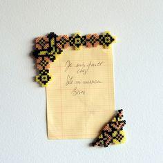Magnets ironed beads - Large Angle Frame slavic stitches inspiration by Leminussieu