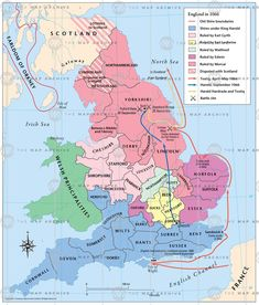 England in 1066 map thumbnail London History, British History, World History, Map Of Britain, Great Britain, William The Conqueror, Scottish Castles, Anglo Saxon, His Travel