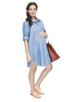 The Boyfriend Dress (HATCH's new spring maternity collection) - @Monique Allen - you should check out their line!
