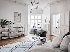 my scandinavian home: A stunning Swedish space in white