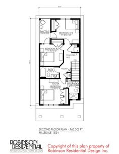 Contemporary Hillsdale-1524 Contemporary House Plans, Contemporary Bedroom, Narrow House Plans, Fireplace Cover, Garage Apartments, Covered Decks, Second Floor, Floor Plans, House Design