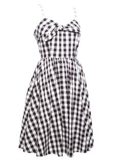"Women's ""Cattle Kate"" Swing Dress by Lucky 13 (Black/White) #inkedshop #cattlekate #dress #plaid #fashion"